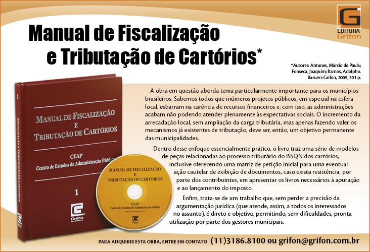 Manual de Fiscalização e Tributação de Cartório